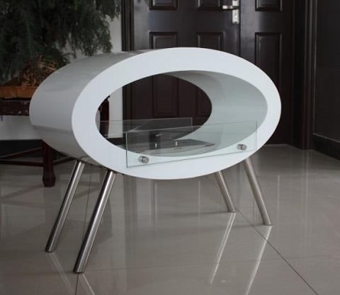 Ovalt designet biopejs til gulv