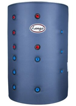 Langå akkumuleringstank 300 L med isolering og sol- & sanitetsspiral