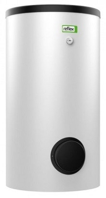 400 L varmtvandsbeholder med 1 spiral